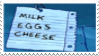 Floating Shopping List Stamp by laprasking