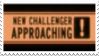 New Challenger Approaching Stamp