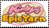 Kirby's Epic Yarn Stamp by laprasking