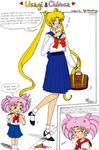 Usagi + Chibiusa Collab Comic by laprasking