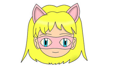 Pink Pussycat Chibi Face 1 by laprasking