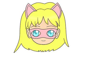 Pink Pussycat Chibi Head Mask 2.0
