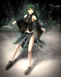 Ice Skater Sanae by nyanzyme