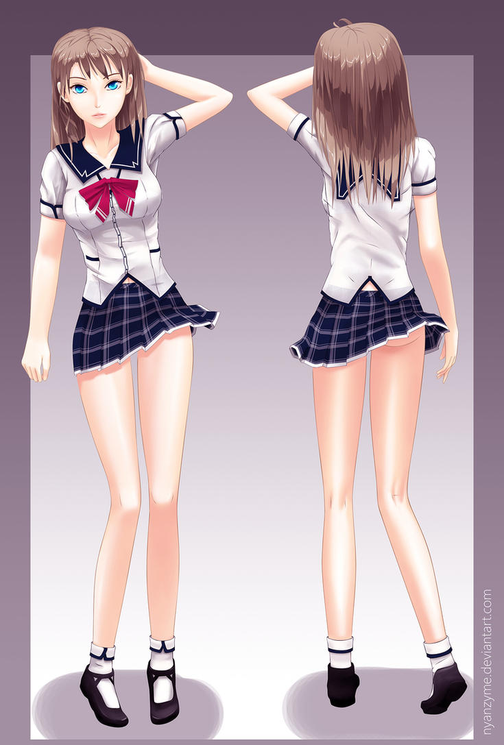 Elyse turnaround - uniform version by nyanzyme