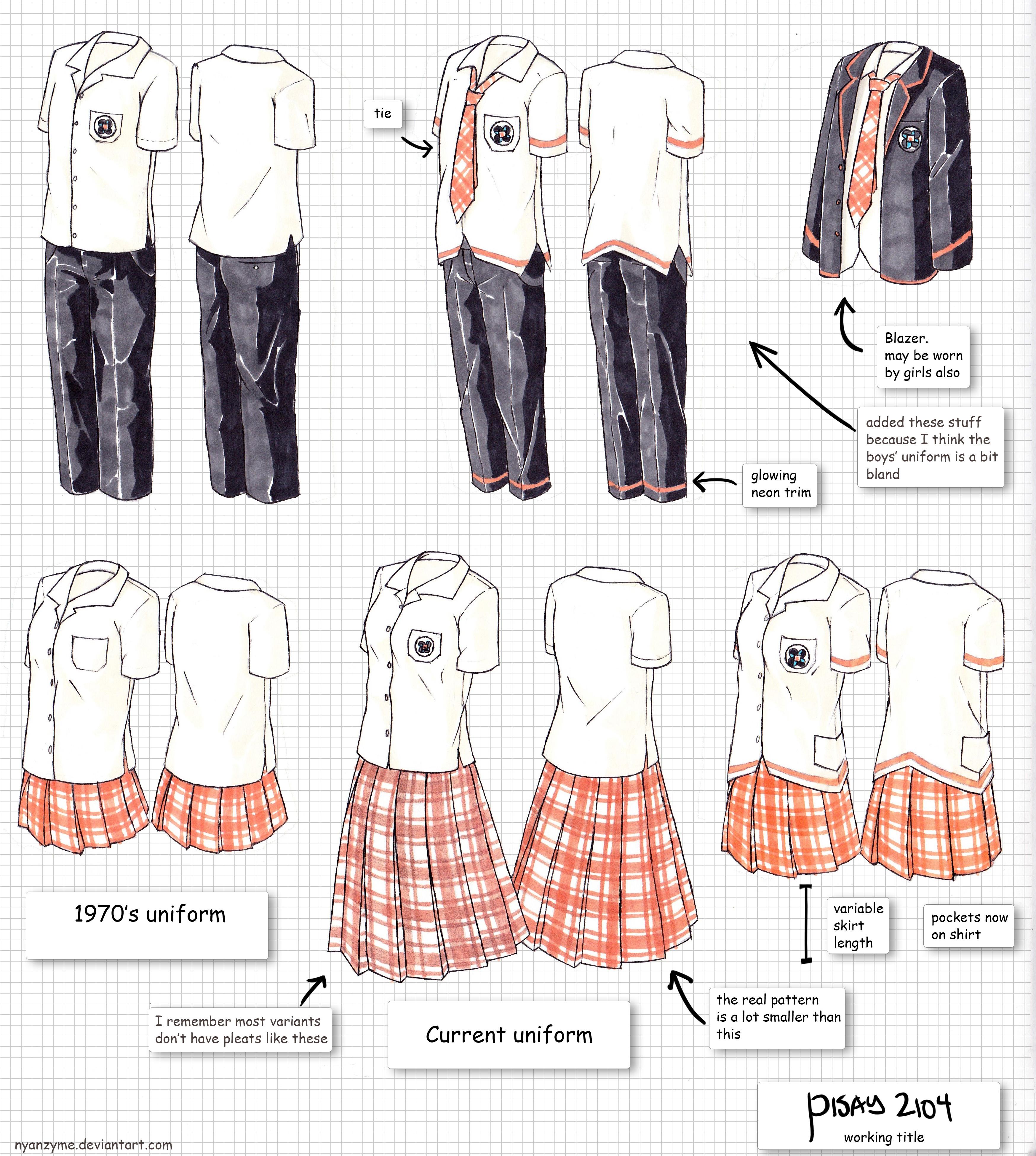 Fashion Sketches School Uniform