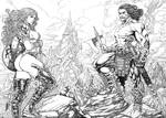 Chronicles of Conan and Red Sonja by RON ADRIAN