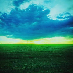 Yellow Skies Over Ever So Brown Fields by GrungePhotography