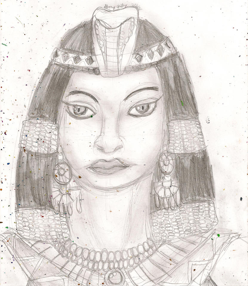 Portrait practice Egyptian Queen by kingofthedededes73 on ...