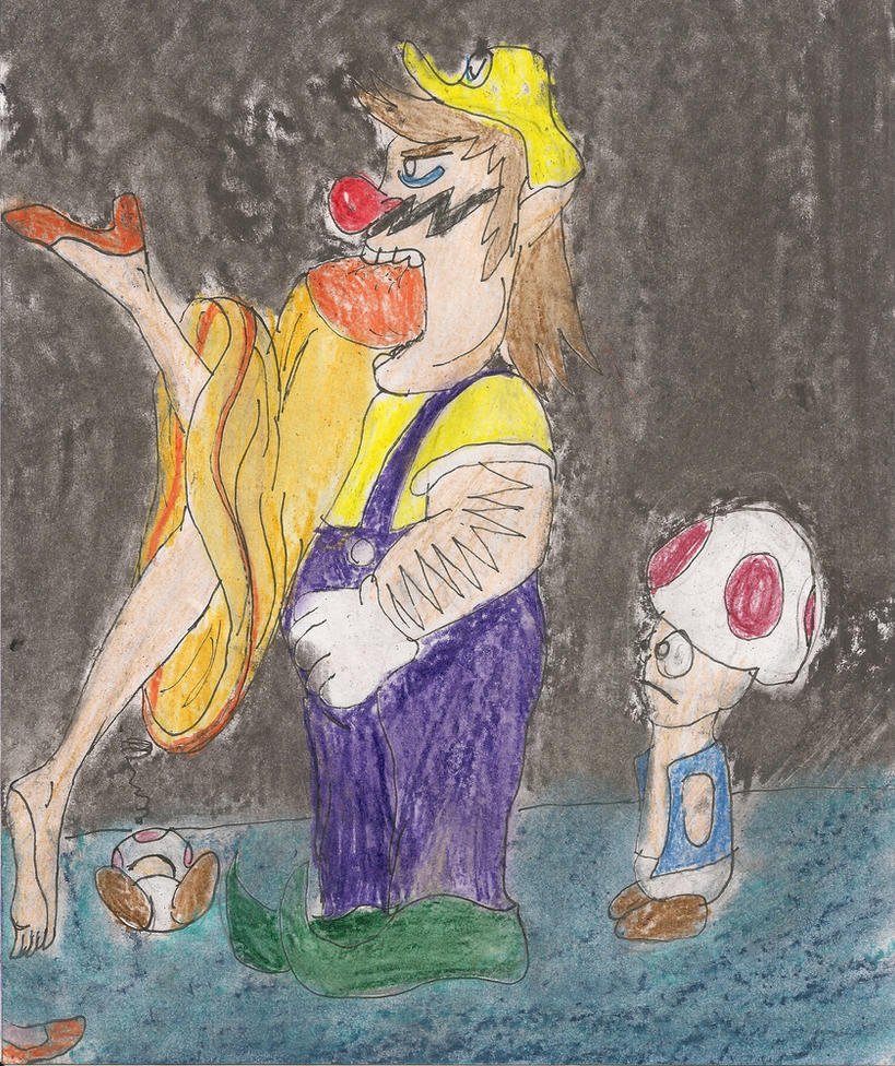 Wario Is Eating Daisy By Kingofthedededes73 On DeviantArt