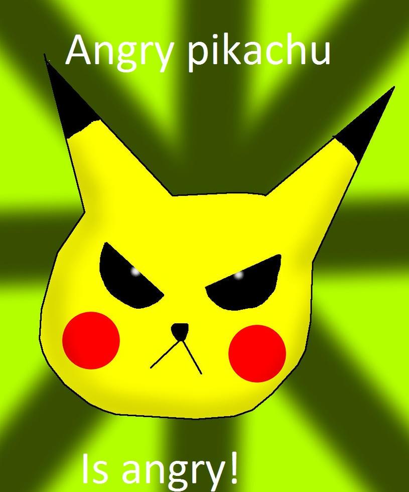 Angry pikachu