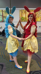 Megacon 2016 plusle and minun 2 by kingofthedededes73