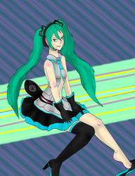 High Poly Miku by kingofthedededes73
