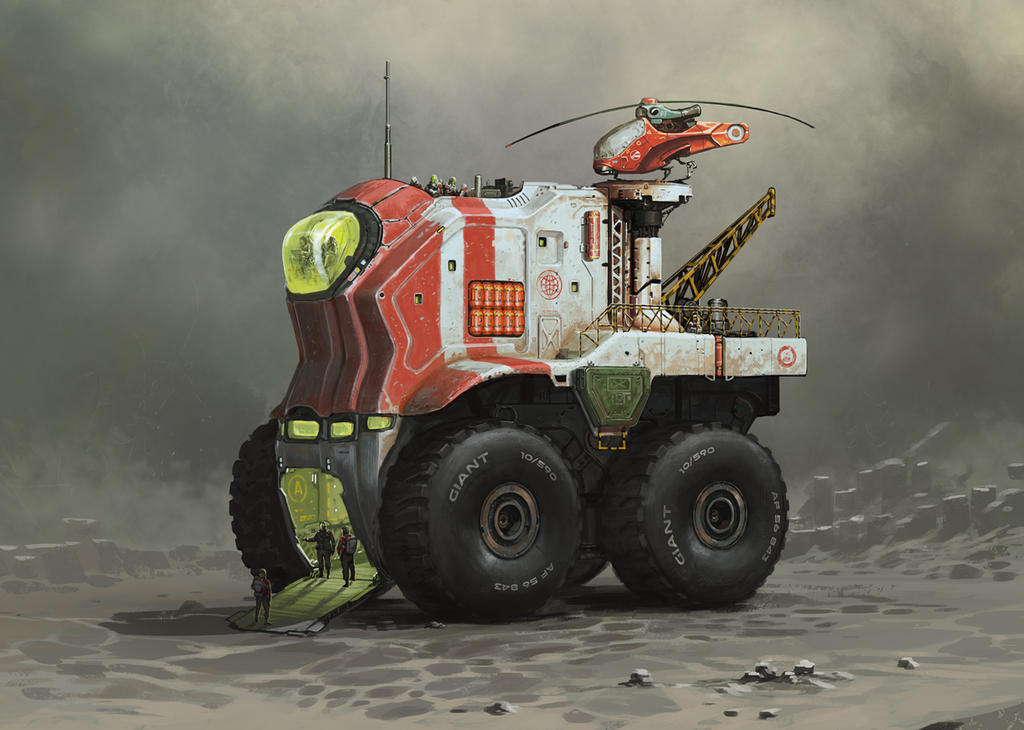 Mobile Planetary Base by yar0