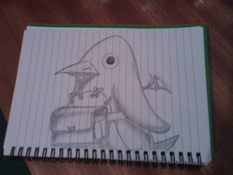Sketch of a Prinny from Disgaea