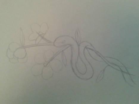 Snake on a branch Sketch