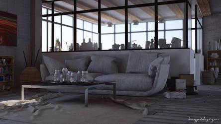Concrete loft by KRYPT06