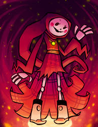 SKELETON charlotte DEATH by Slitherbot