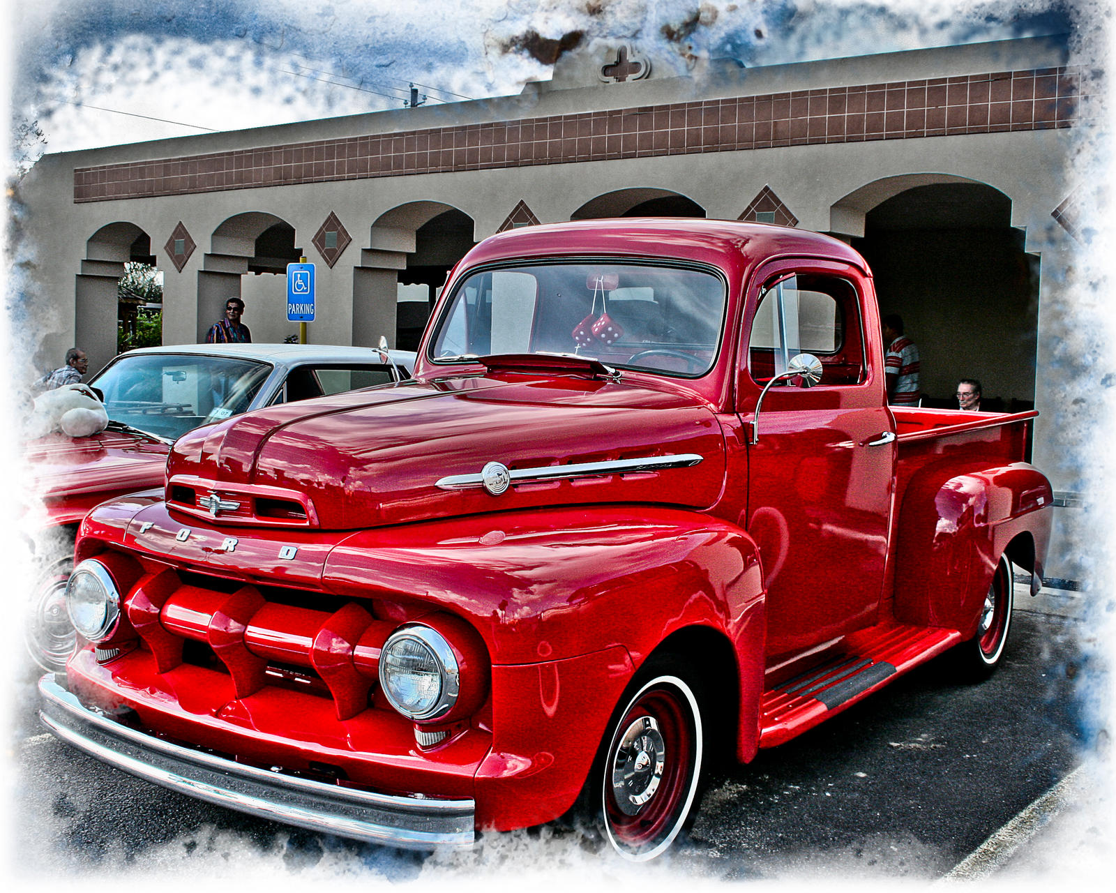 Classic Red Ford Truck