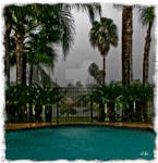 Rainy Day Pool Side