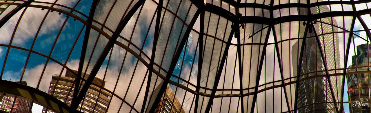 Skycrape in Boston Panorama by DleeKirby