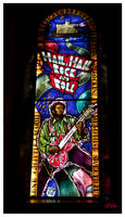 Hail Rock Roll Stained Glass