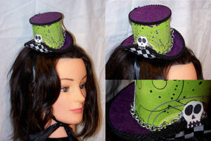 Funky Skull Checkered Hat by ADreamersImagination