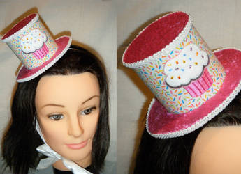 Sparkly Pink Cupcake Hat by ADreamersImagination