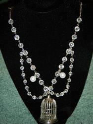 Crystal Birdcage Necklace by ADreamersImagination