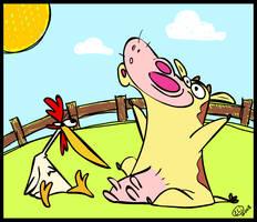 COW N CHICKEN by elithespork