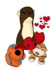 Soft Critters Say Happy V-Day