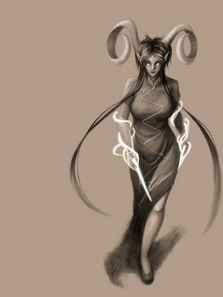 Monochrome Handmaid by ChibiTaryn