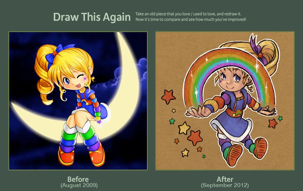 Draw this again: Rainbow Brite by ChibiTaryn