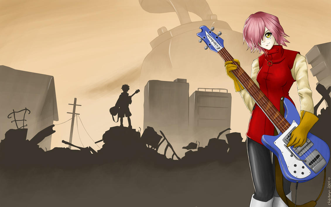 Haruko with rickenbacker by chibitaryn on deviantart - Flcl wallpaper ...