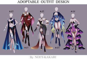 ACTION OUTFIT DESIGN #040-#044 [OPEN] by NOEY-KAKARI