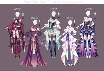 ACTION OUTFIT DESIGN #055-#059 [OPEN] by NOEY-KAKARI
