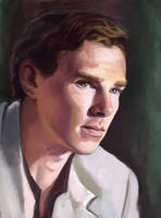 Benedict Cumberbatch as Luke Fitzwilliam by ladunya