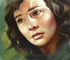 In memory of Russian actress by ladunya