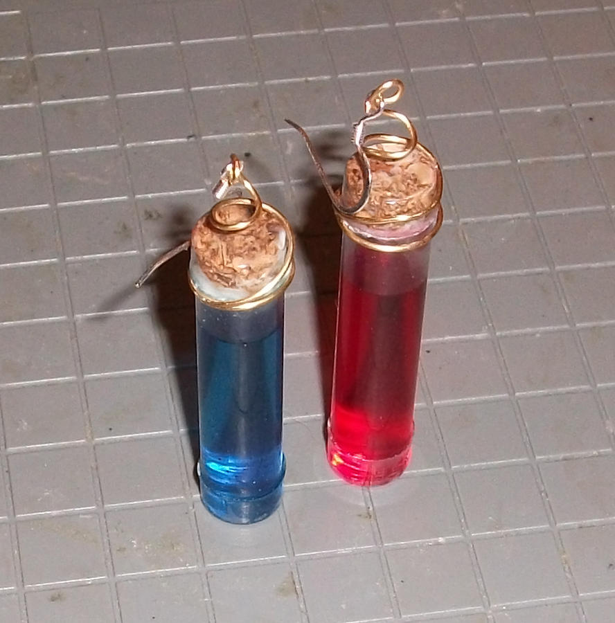 Potion Bottle Earrings by angermuffin