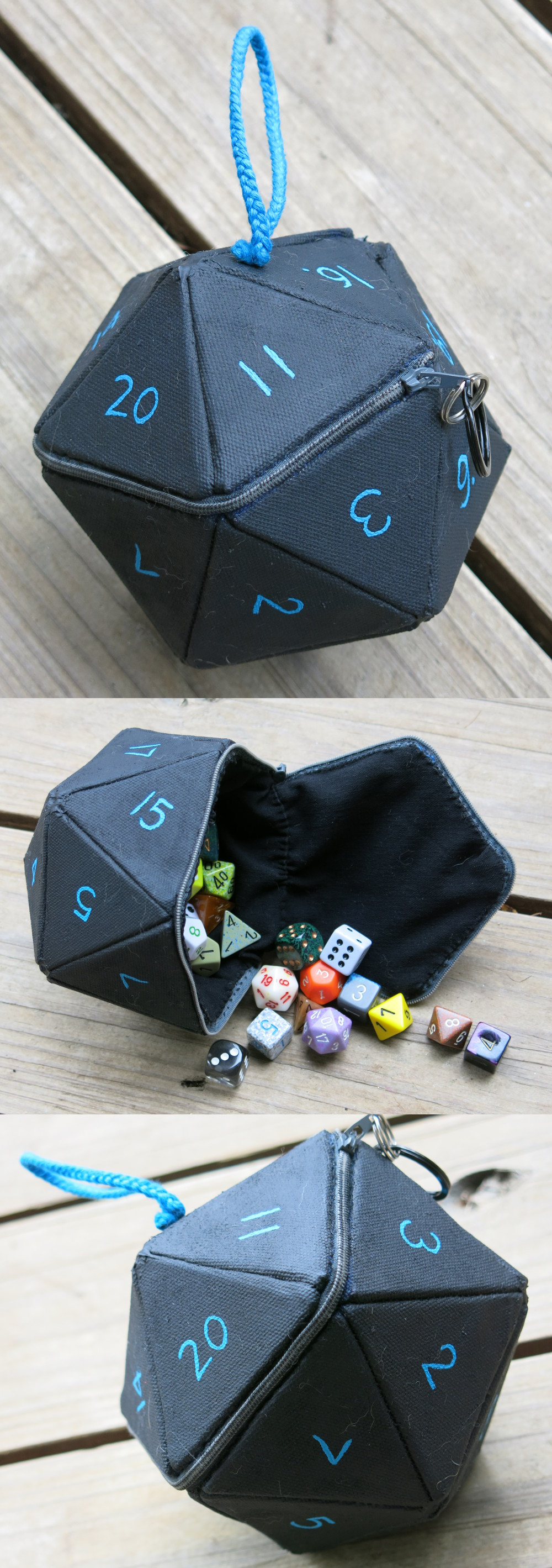 D20 Dice Bag by angermuffin