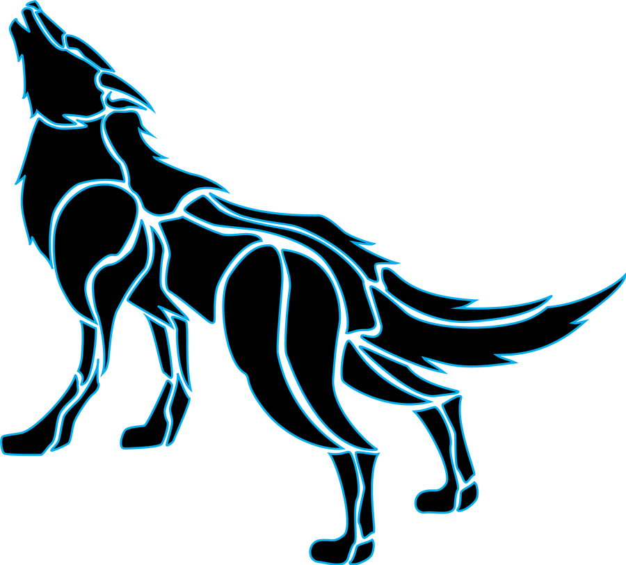 Tron Wolf Tribal by MiriaJiyuu on DeviantArt