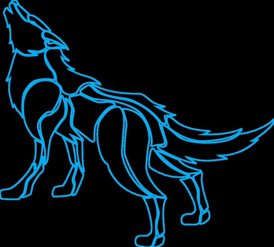 Tron Wolf Tribal by MiriaJiyuu on DeviantArt