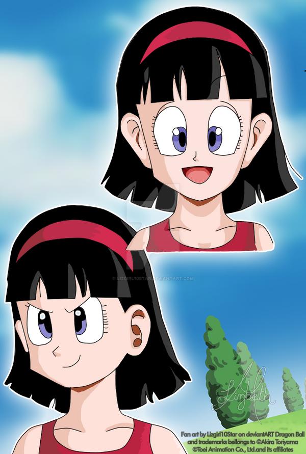 Videl drawn as the first Akira Toriyama style by Lizgirl10Star