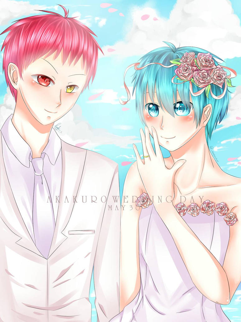 Akakuro wedding day by UchihaBlue11