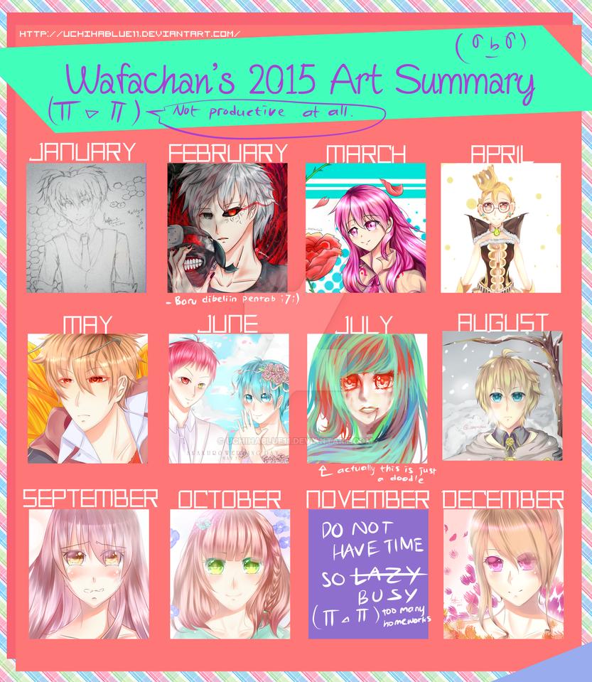 Wafachan's Art Summary 2015 by UchihaBlue11