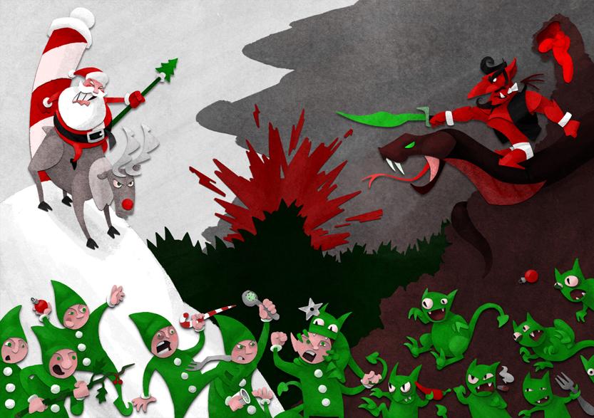 Santa Vs Satan Mark 2 by WonderDookie