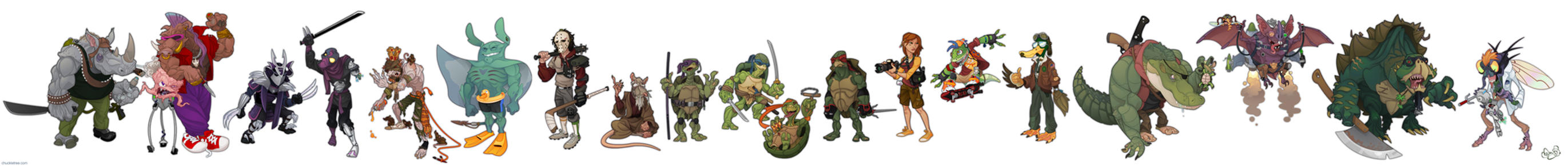 Turtles Redesign Lineup by WonderDookie