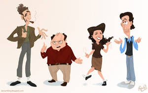 Seinfeld Cast by WonderDookie