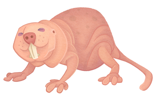 cartoon naked mole rats