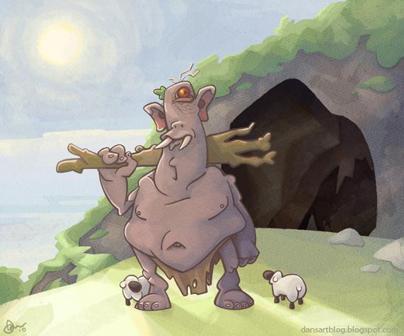 Polyphemus the Shepherd by WonderDookie