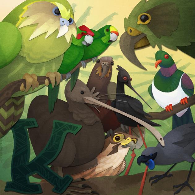 Birds of New Zealand  - K by WonderDookie